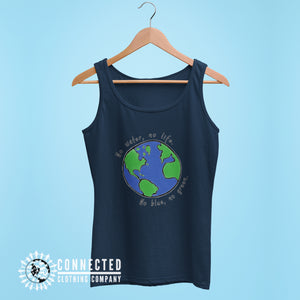Navy No Blue No Green Women's Relaxed Tank - Connected Clothing Company - Ethically and Sustainably Made - 10% of profits donated to Mission Blue ocean conservation