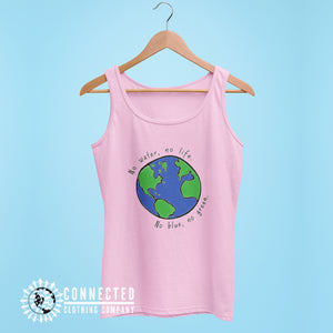 Pink No Blue No Green Women's Relaxed Tank - Connected Clothing Company - Ethically and Sustainably Made - 10% of profits donated to Mission Blue ocean conservation