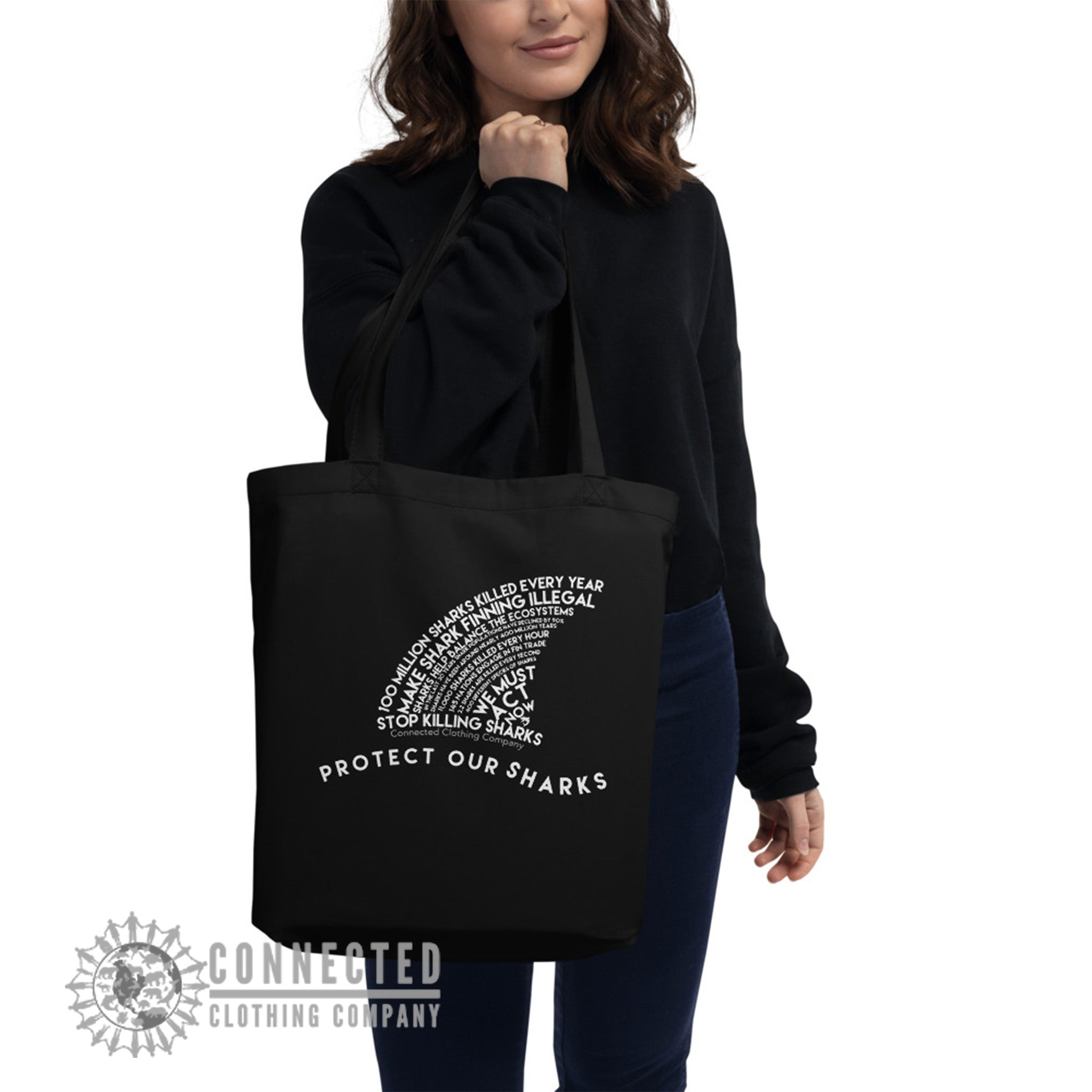 PROTECT OUR OCEANS Organic Cotton Eco Tote Bag