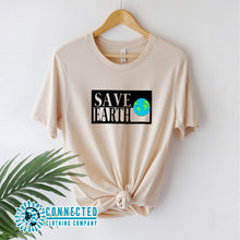 Load image into Gallery viewer, Soft Cream Save Earth Short-Sleeve T-shirt - Connected Clothing Company - Ethically and Sustainably Made - 50% donated to WIRES Wildlife Rescue
