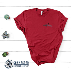 Red Save The Vaquita Short-Sleeve Tee - Connected Clothing Company - Ethically & Sustainably Made - 10% of profits donated to vaquita porpoise conservation
