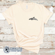 Load image into Gallery viewer, Soft Cream Save The Vaquita Short-Sleeve Tee - Connected Clothing Company - Ethically & Sustainably Made - 10% of profits donated to vaquita porpoise conservation