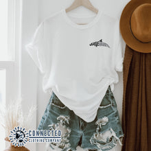 Load image into Gallery viewer, White Save The Vaquita Short-Sleeve Tee - Connected Clothing Company - Ethically & Sustainably Made - 10% of profits donated to vaquita porpoise conservation