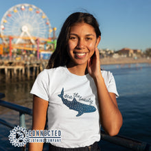 Load image into Gallery viewer, Model Wearing Sea The Beauty Short-Sleeve Tee - Connected Clothing Company - 10% of profits donated to ocean conservation