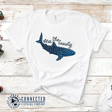 Load image into Gallery viewer, Sea The Beauty Short-Sleeve Tee in white - Connected Clothing Company - 10% of profits donated to ocean conservation