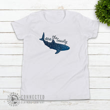 Load image into Gallery viewer, White Sea The Beauty Youth Short-Sleeve Tee - Connected Clothing Company - Ethically and Sustainably Made - 10% donated to Mission Blue ocean conservation