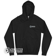 Load image into Gallery viewer, Front of Black Show Humanity Unisex Hoodie with Connected Logo print - Connected Clothing Company - Ethically and Sustainably Made - 10% donated to