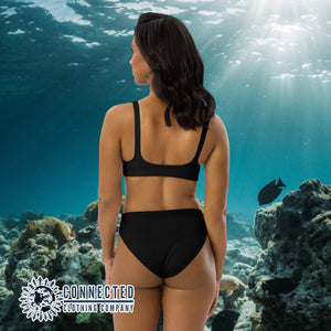 Scuba Diver Recycled Bikini - 2 piece high waisted bottom bikini - Connected Clothing Company - Ethically and Sustainably Made Apparel - 10% of profits donated to ocean conservation