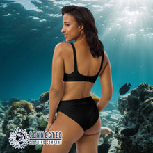 Load image into Gallery viewer, Scuba Diver Recycled Bikini - 2 piece high waisted bottom bikini - Connected Clothing Company - Ethically and Sustainably Made Apparel - 10% of profits donated to ocean conservation