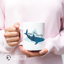Load image into Gallery viewer, 11 oz Sea The Beauty Whale Shark Mug - Connected Clothing Company - 10% of profits donated to ocean conservation