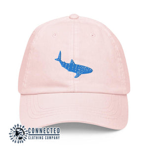 Whale Shark Embroidered Pastel Cotton Cap