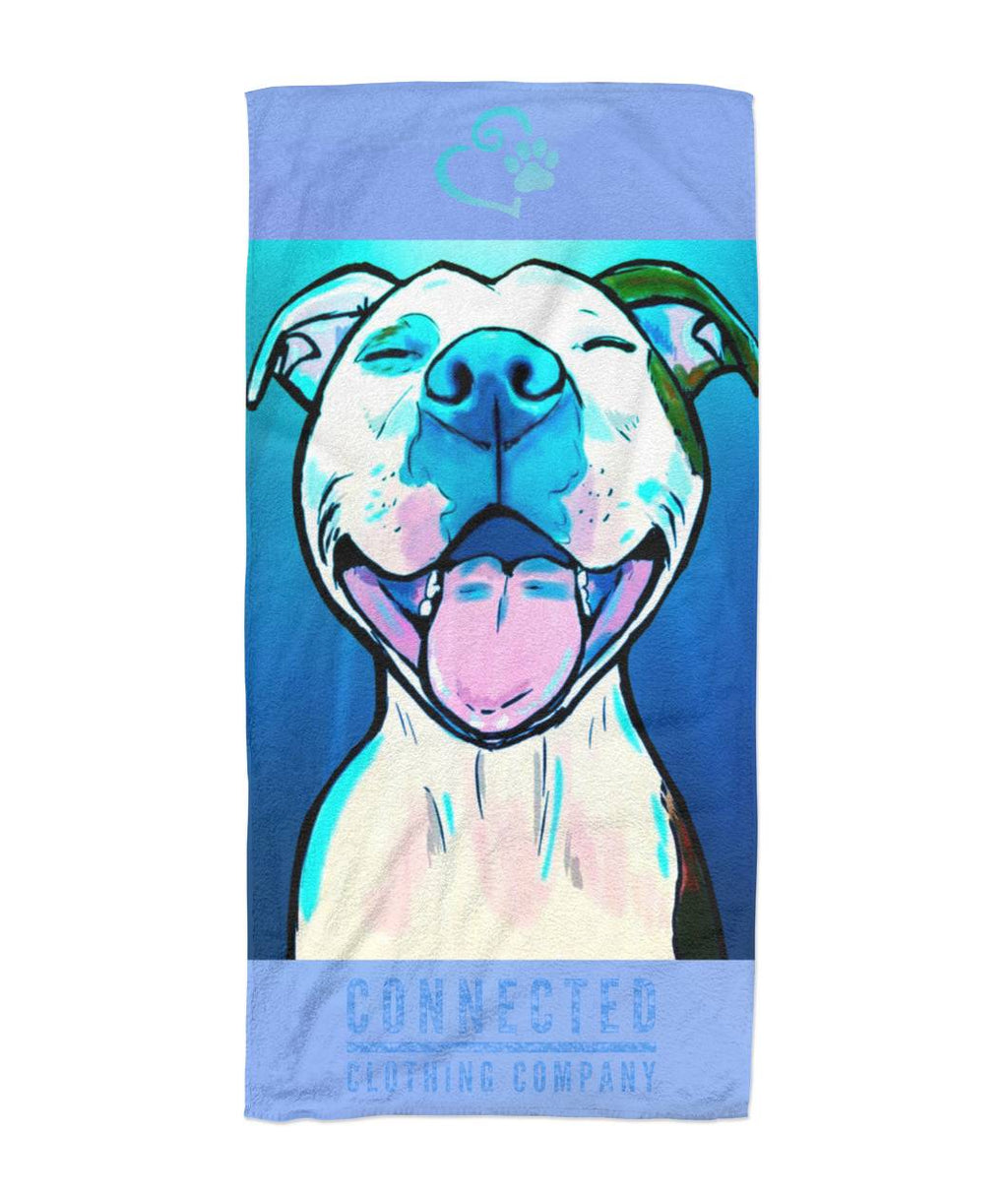 All Smiles Pit Beach Towel - Connected Clothing Company - 10% of profits donated