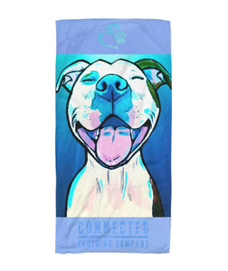 All Smiles Pit Beach Towel - Connected Clothing Company