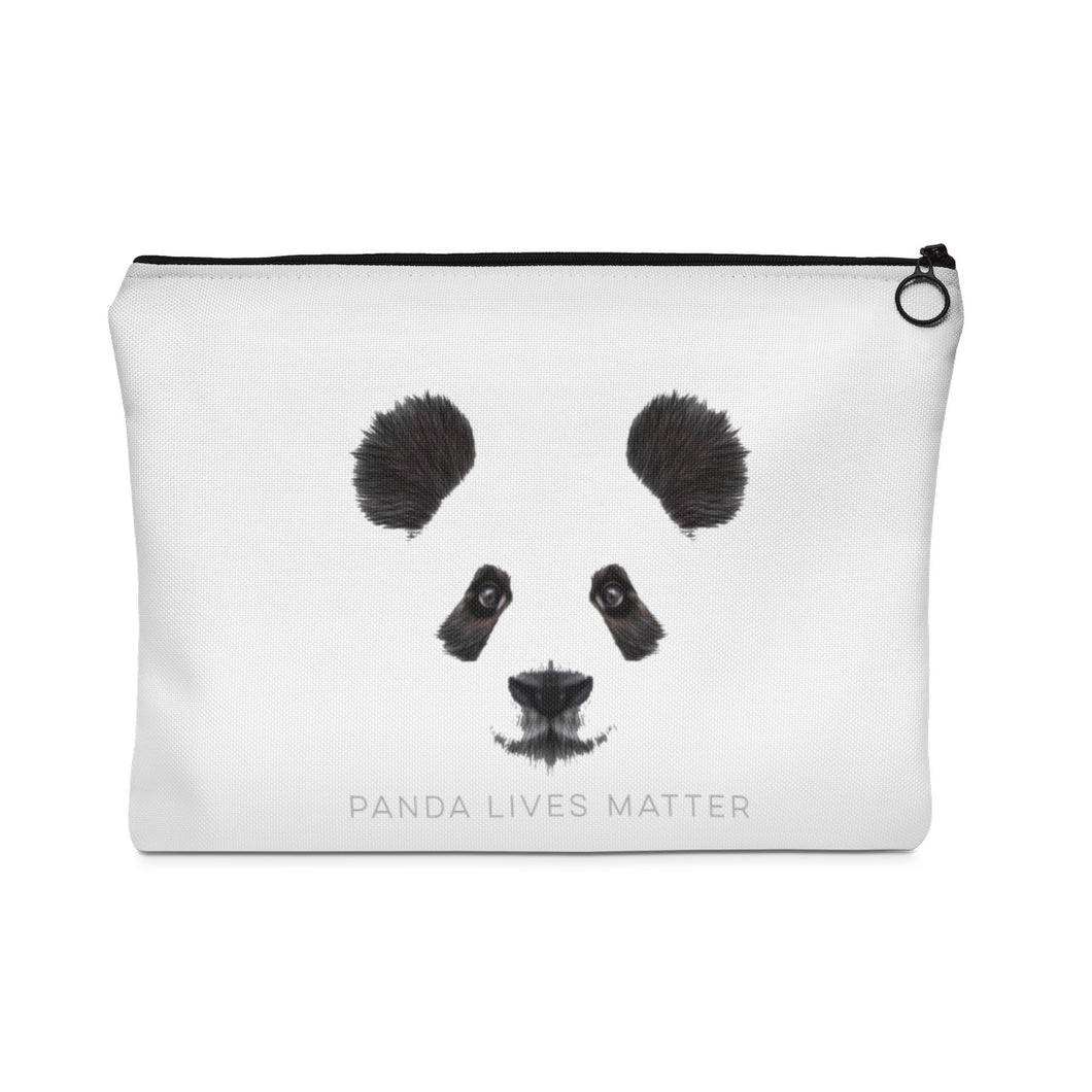 Panda Lives Matter Zipper Bag - Connected Clothing Company - 10% of profits donated
