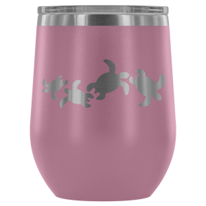 Sea Turtle Happy Hour Stemless Insulated Wine Tumbler - Connected Clothing Company - 10% of profits donated