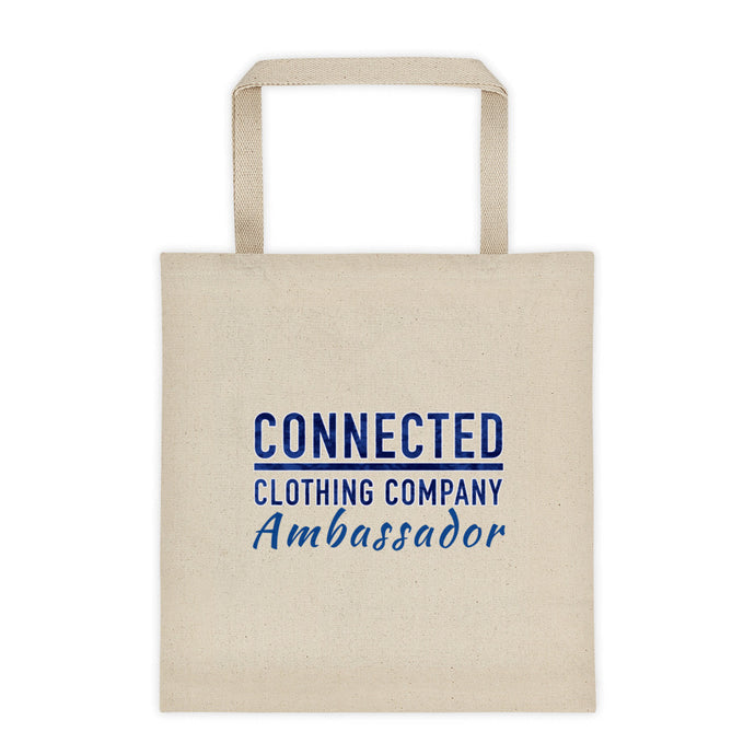 Connected Ambassador Cotton Tote Bag - Connected Clothing Company - 10% of profits donated