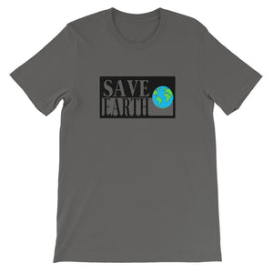 Asphalt Save Earth Short-Sleeve T-shirt - Connected Clothing Company - Ethically and Sustainably Made - 50% donated to WIRES Wildlife Rescue