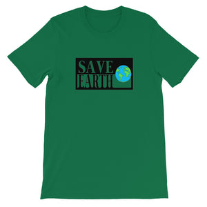 Kelly Green Save Earth Short-Sleeve T-shirt - Connected Clothing Company - Ethically and Sustainably Made - 50% donated to WIRES Wildlife Rescue