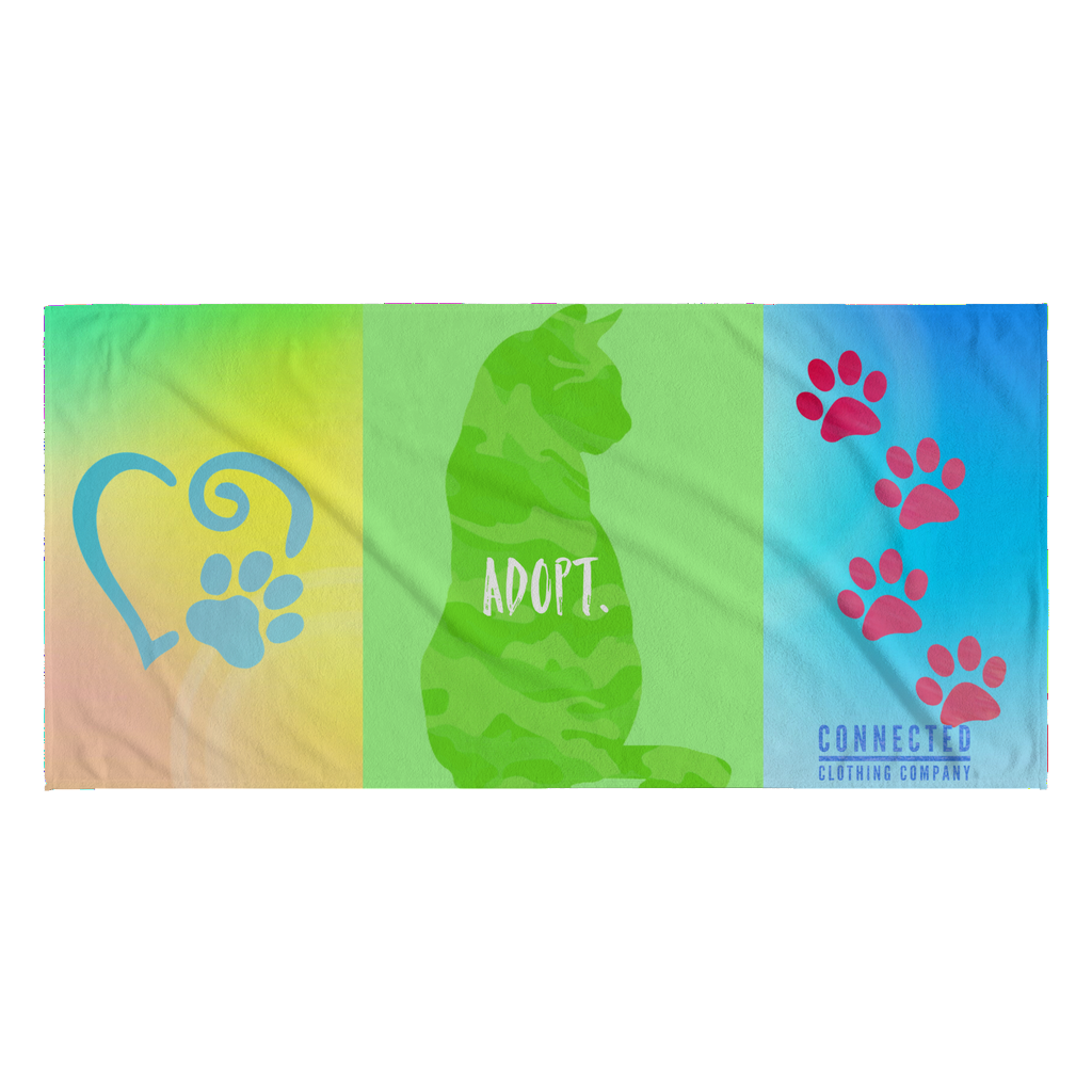 Purfect Adopt Beach Towel - Connected Clothing Company