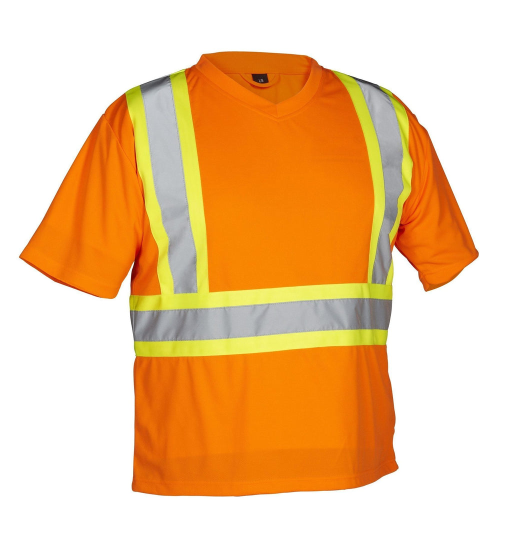 Reflective Orange Hi Vis T-Shirt