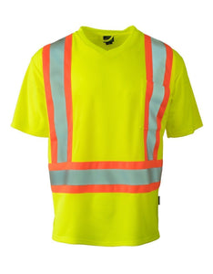 Reflective Yellow Lime Hi Vis T-Shirt