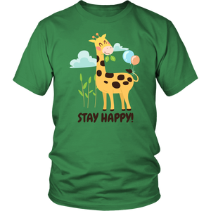 Stay Happy Giraffe Shirt