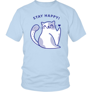 Stay Happy Cat Shirt