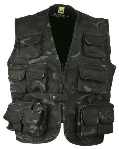 Kombat Kids Tactical Vest - BTP Black