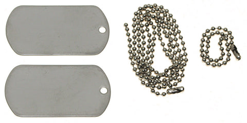 Embossed Stamped US Army Style Dog Tags