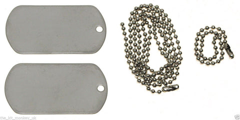 US Army Style Dog Tags (Stainless Steel)