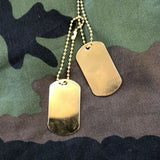 US Army Style Dog Tags (Gold)