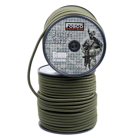 Fosco Olive Green 6 mm Bungee Cord