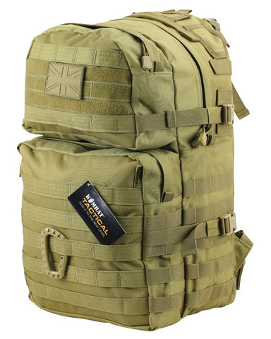 Kombat 40 Litre Medium Assault Pack - Coyote Tan