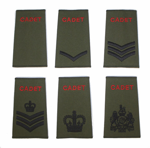 ACF & CCF Cadet Green Rank Slide