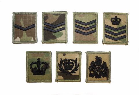 Rank Patch, Multi, Black Thread