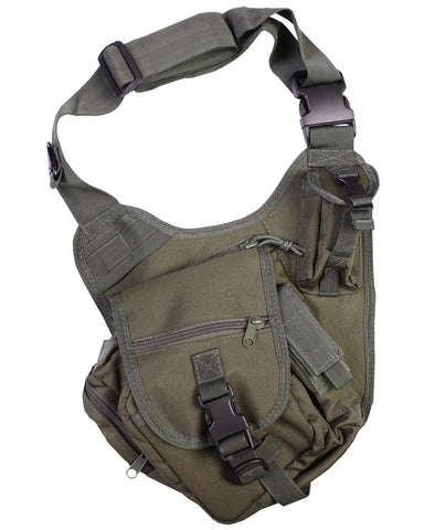 Kombat 7 Litre Tactical Shoulder Bag - Olive Green