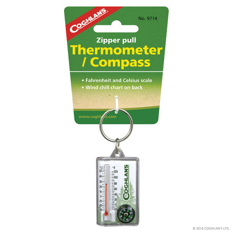 Coghlan's Thermometer & Compass Zip Puller