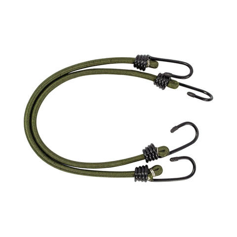 Highlander Olive Green 8 mm Bungees - 45 cm - 2 pack