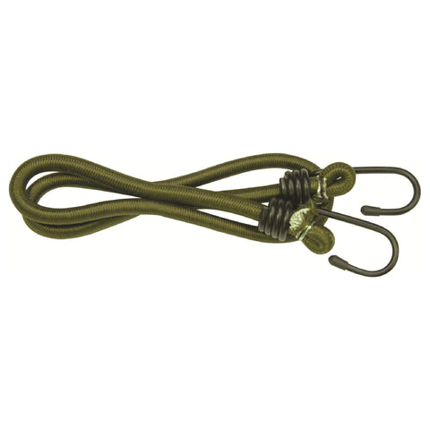 Highlander Olive Green 8 mm Bungees - 75 cm - 2 pack