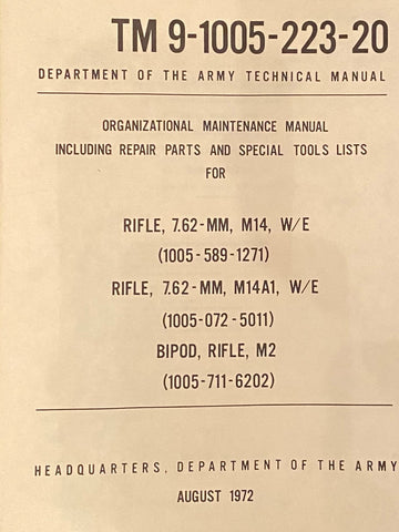 US Army M14 Maintenance Manual