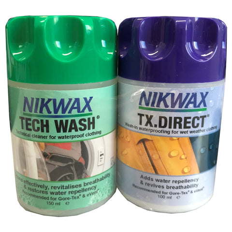 Nikwax TX Direct & Tech Wash 100ml (Twin Pack)