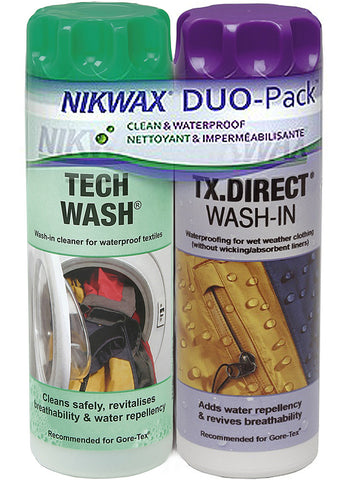 Nikwax TX Direct & Tech Wash 300ml (Twin Pack)