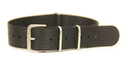 G10 Military Style Watch Strap - Black