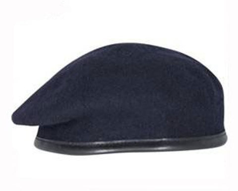 Firmin Small Crown Beret - Navy Blue