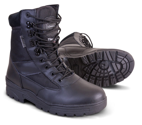 Kombat Half Leather Patrol Boots - Black