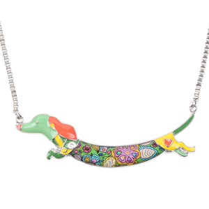 Dachshund Dog Choker Necklace Vol2
