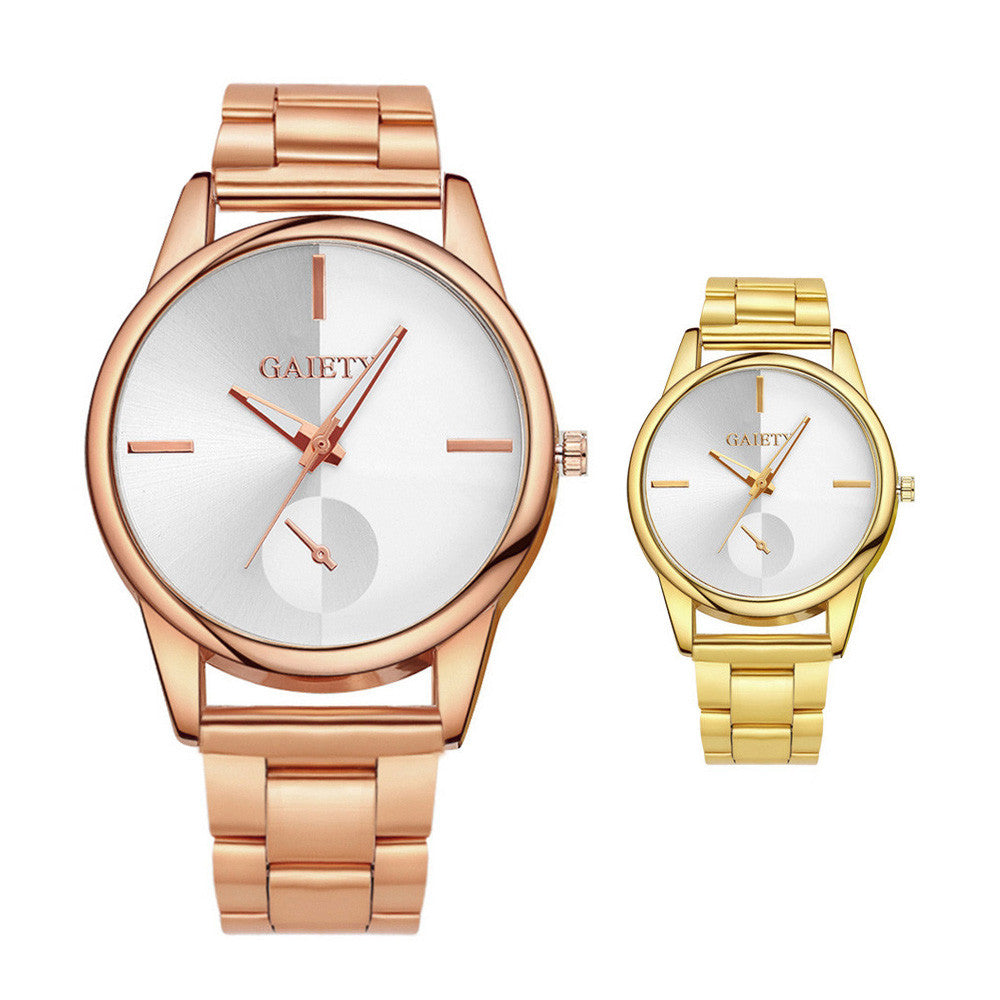 Luxury Ladies Watch - Golden Stainless Steel