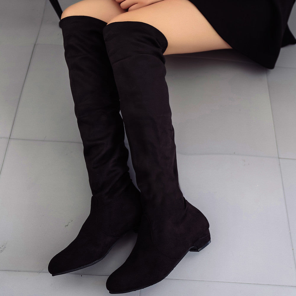 High Leg Suede Boots by Nonty
