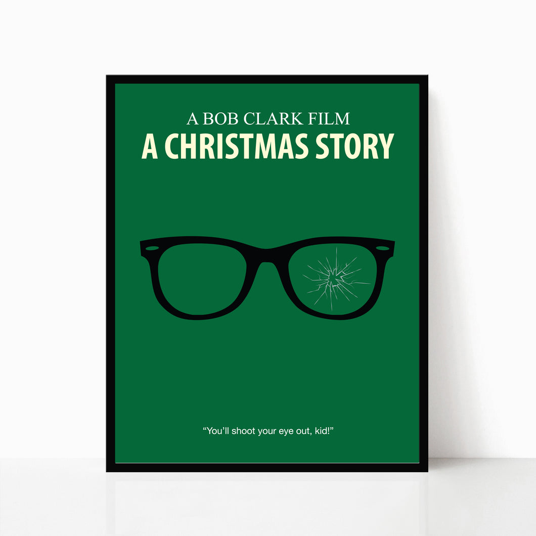 A Christmas Story Poster - Ralphie's Glasses