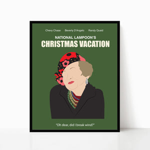 Christmas Vacation Minimalist Poster (Aunt Bethany)